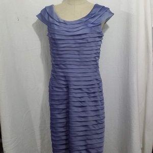 Adrianna Papell  Ruffle Sleeveless Dress 12